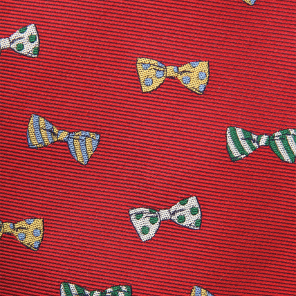Woven Bowtie Pattern Bow - Red